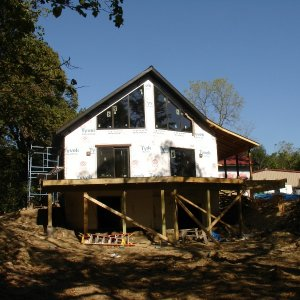 Loft in Hampton, exterior construction deck