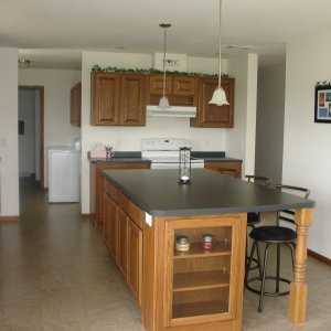 Custom in Waucoma, kitchen island
