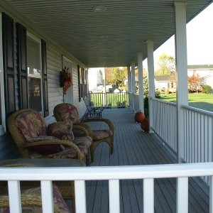 Telmark in Decorah, porch