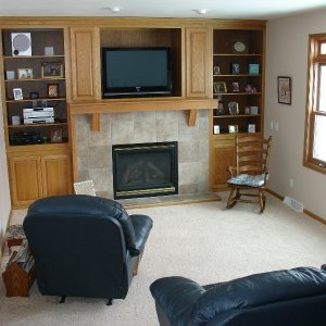 Mapleton in Decorah, family room