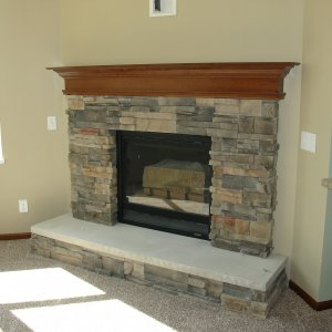 Northwood in Calmar, fireplace