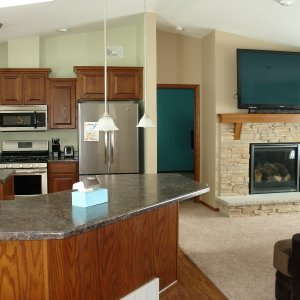 Custom in Ossian, kitchen and living room