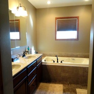 Cambridge in Evansdale, master bath