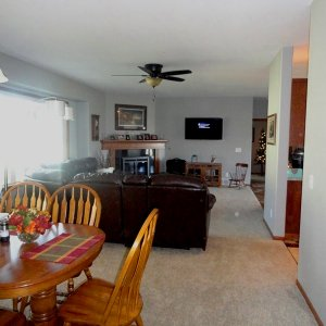 Cambridge in Evansdale, dining and living rooms