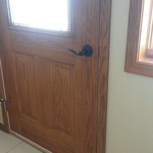 Cambridge in Cresco, basement door