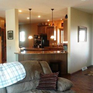 Cambridge in Cresco, living room to kitchen