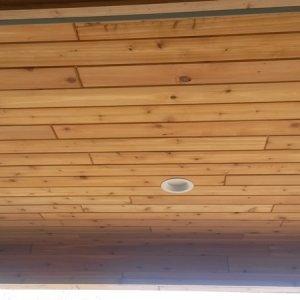 Cambridge in Cresco, porch ceiling