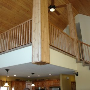 Chalet in Detroit Lakes. loft railing